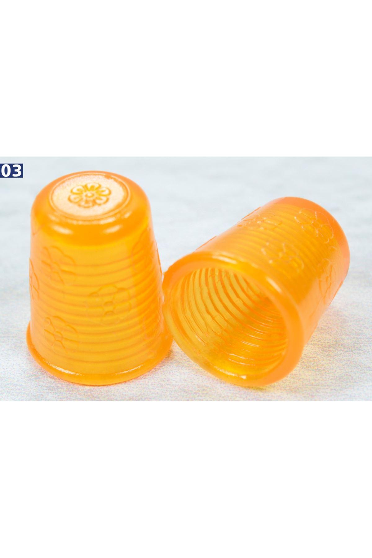 Yüksük Plastik 1 Çift - Turuncu