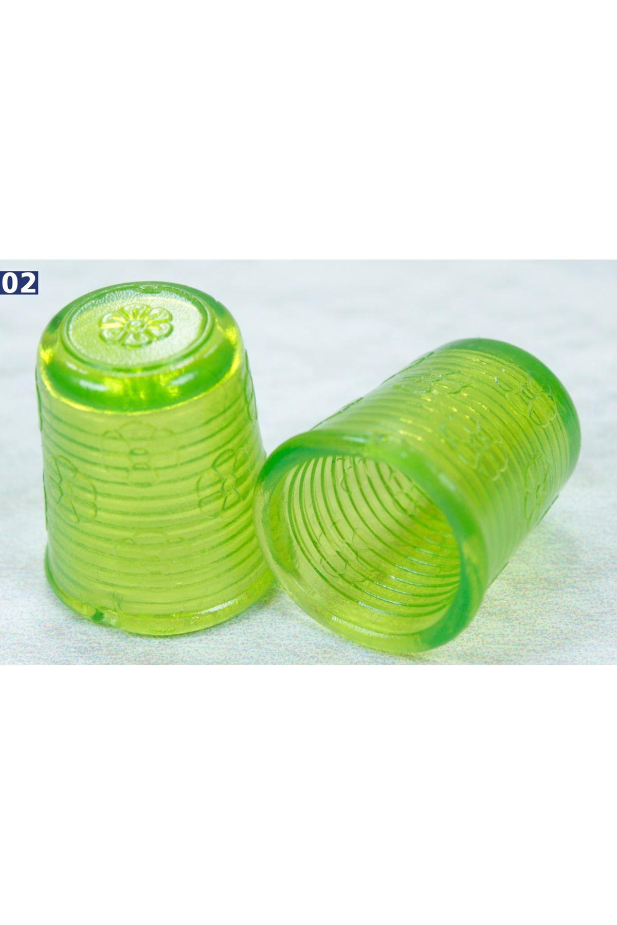 Yüksük Plastik 1 Çift - Yeşil