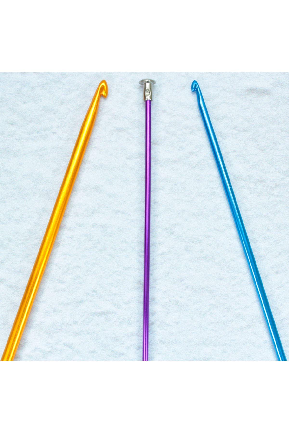 Renkli Metal Kısa Gagalı Şiş 25 cm