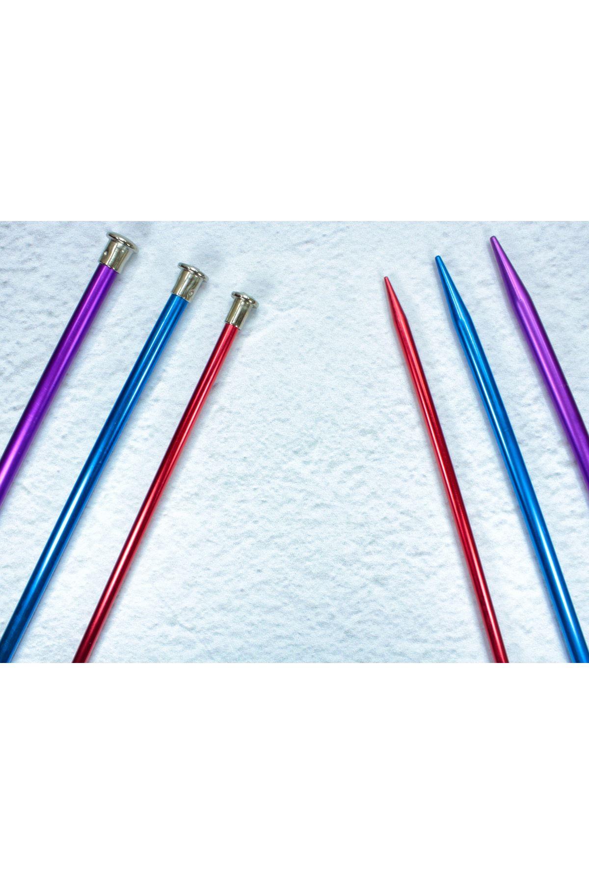Renkli Metal Kısa Çocuk Şişi 25 cm