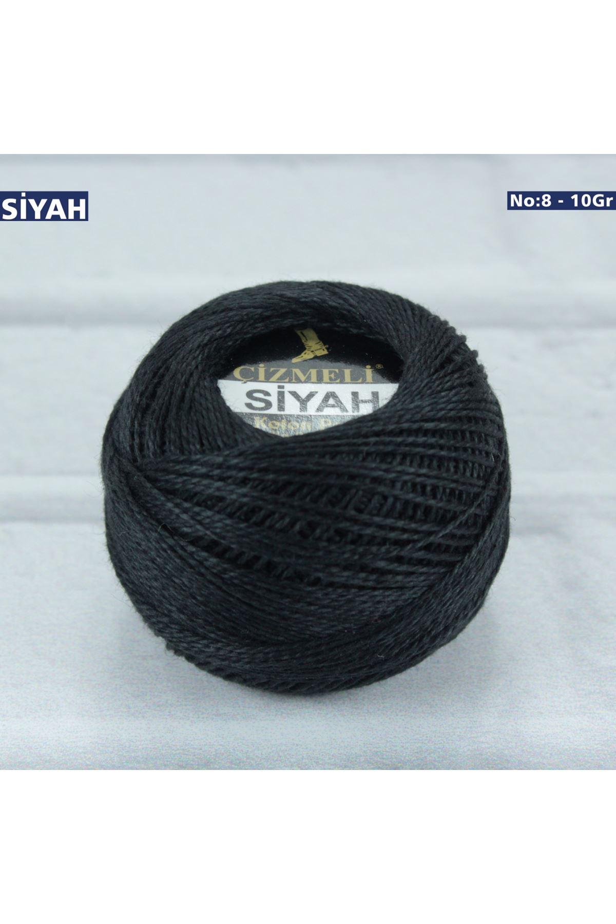 Çizmeli Cotton Perle Nakış İpliği Siyah