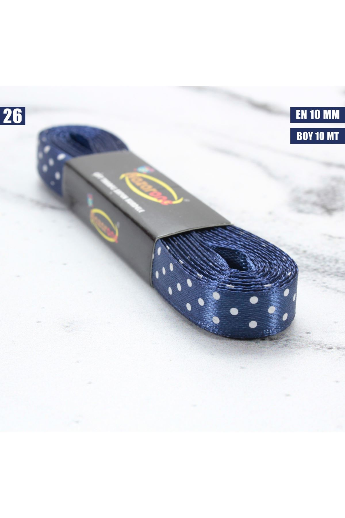Puanlı Saten Kurdele - 10 mm - 26