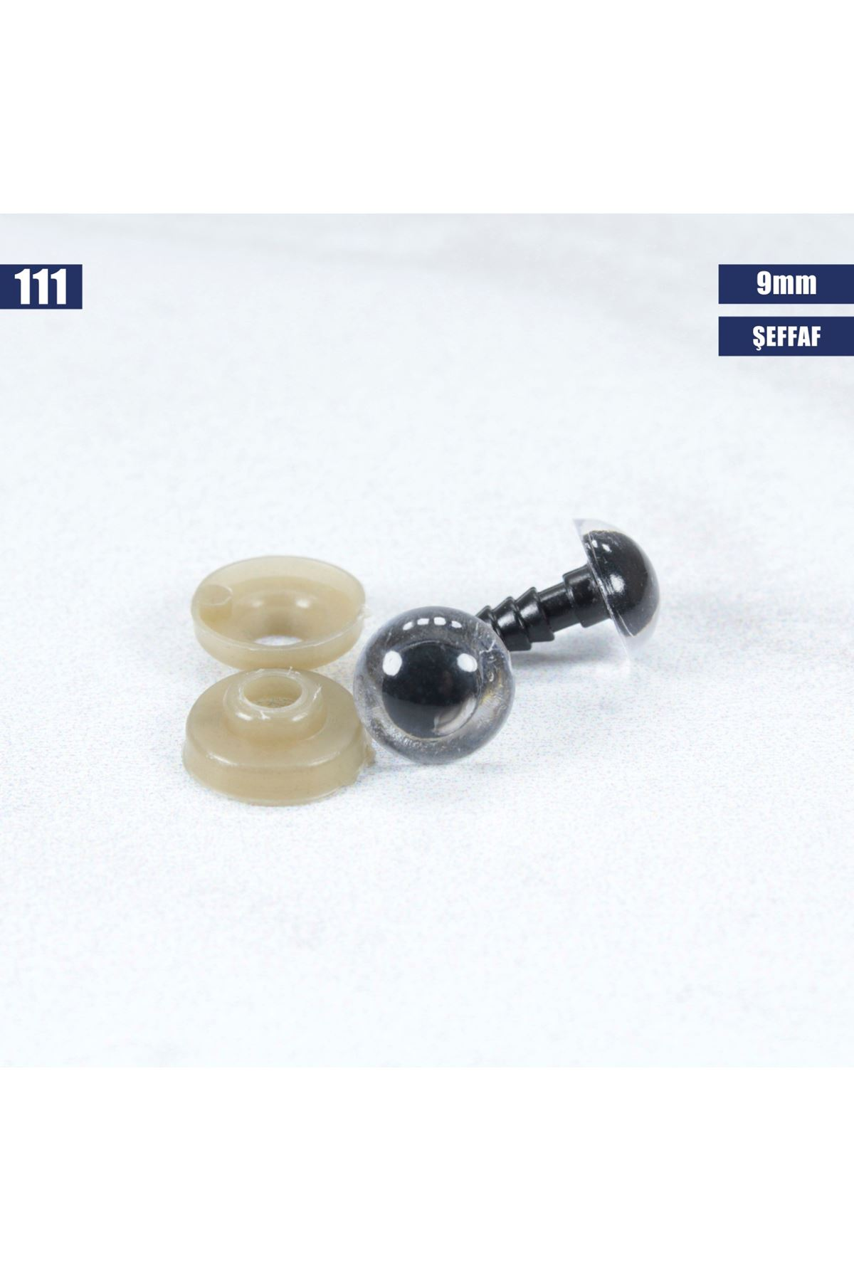 Şeffaf Vidalı Göz 9 mm 111