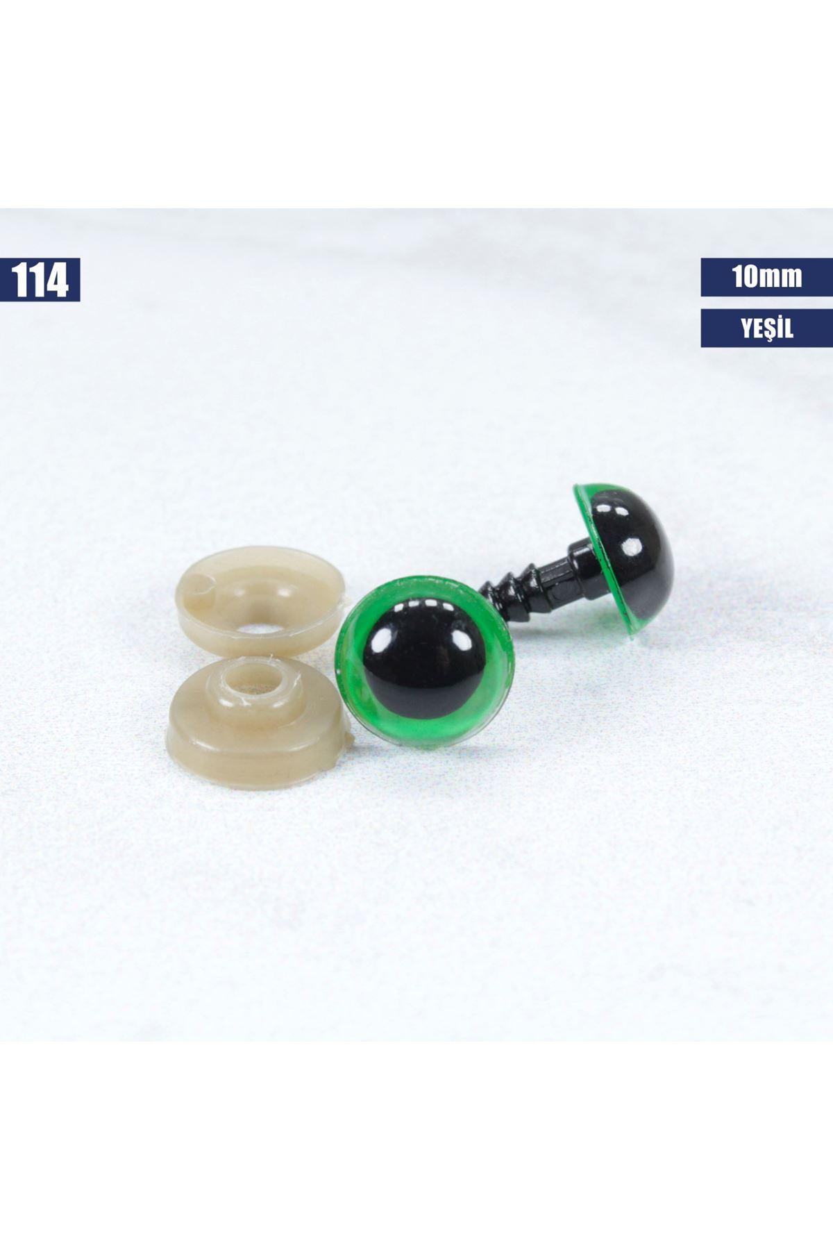 Yeşil Vidalı Göz 10 mm - 114