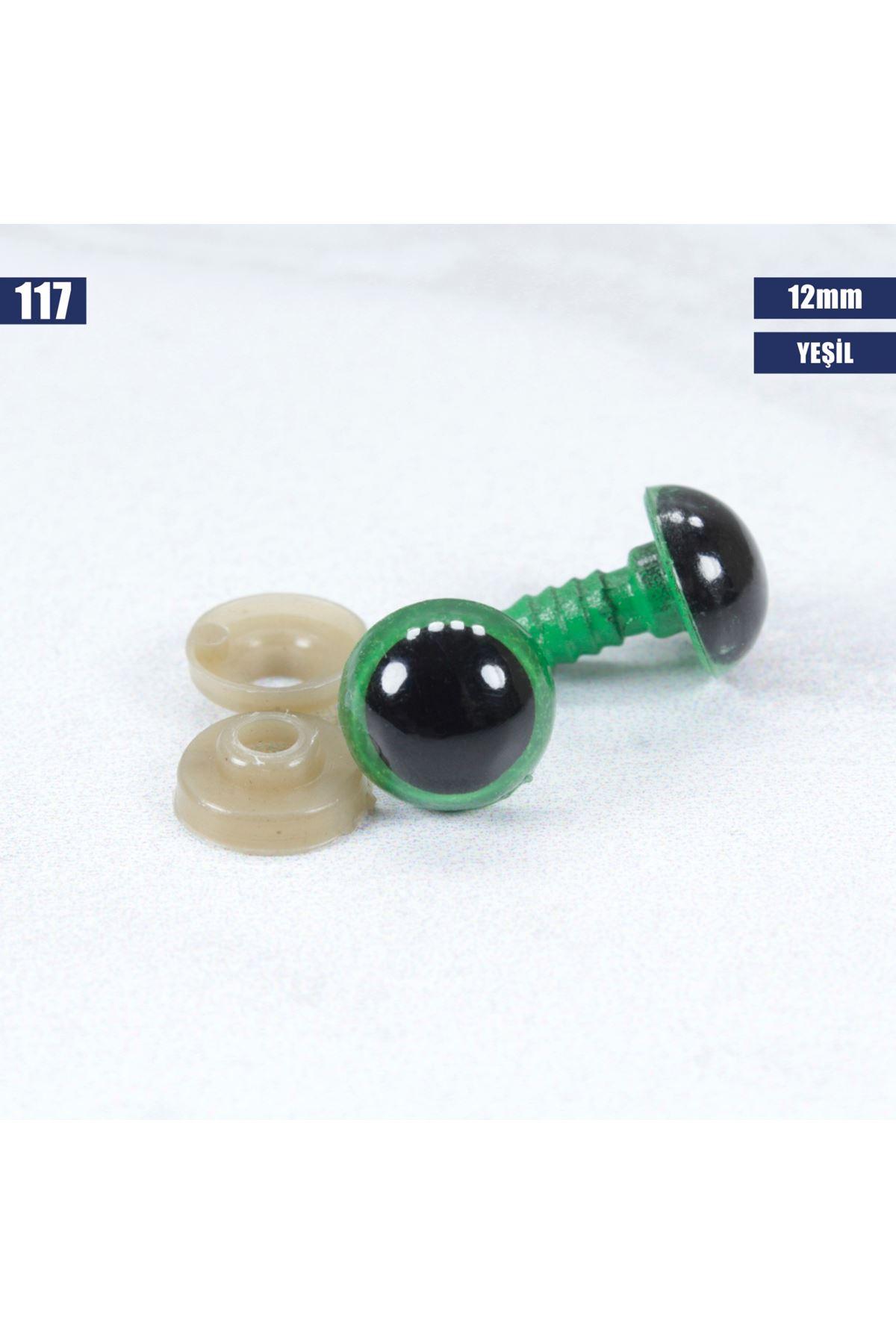 Yeşil Vidalı Göz 12 mm - 117