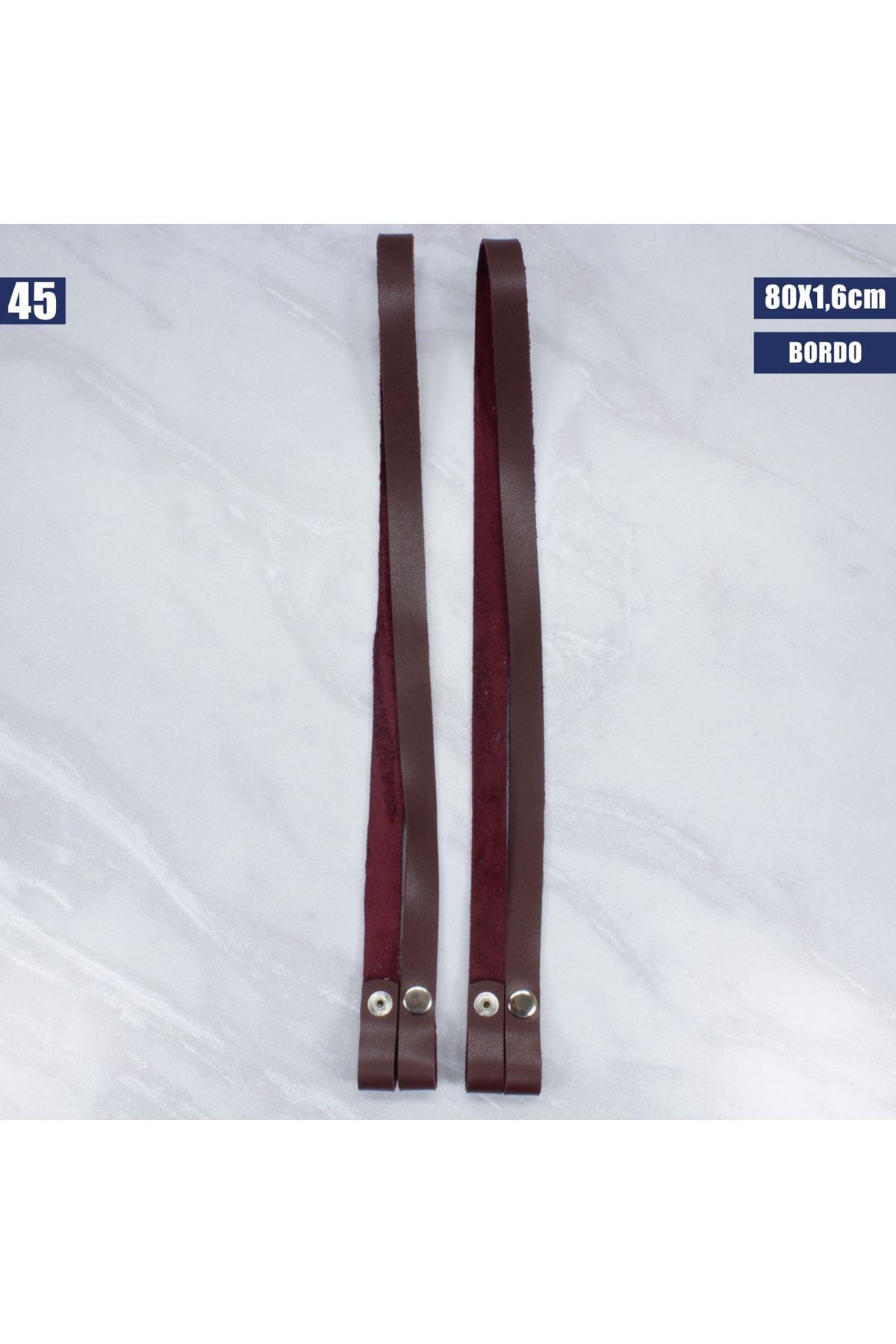 Deri Çıtçıtlı Çanta Sapı - 45