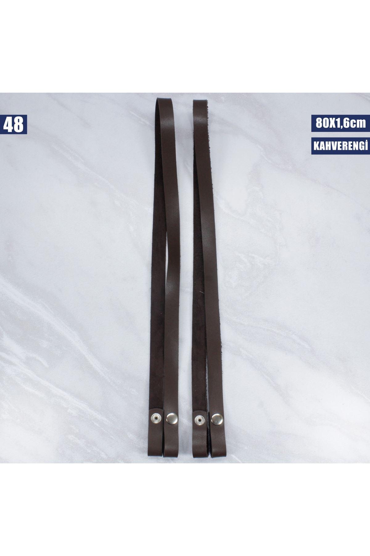 Deri Çıtçıtlı Çanta Sapı - 48