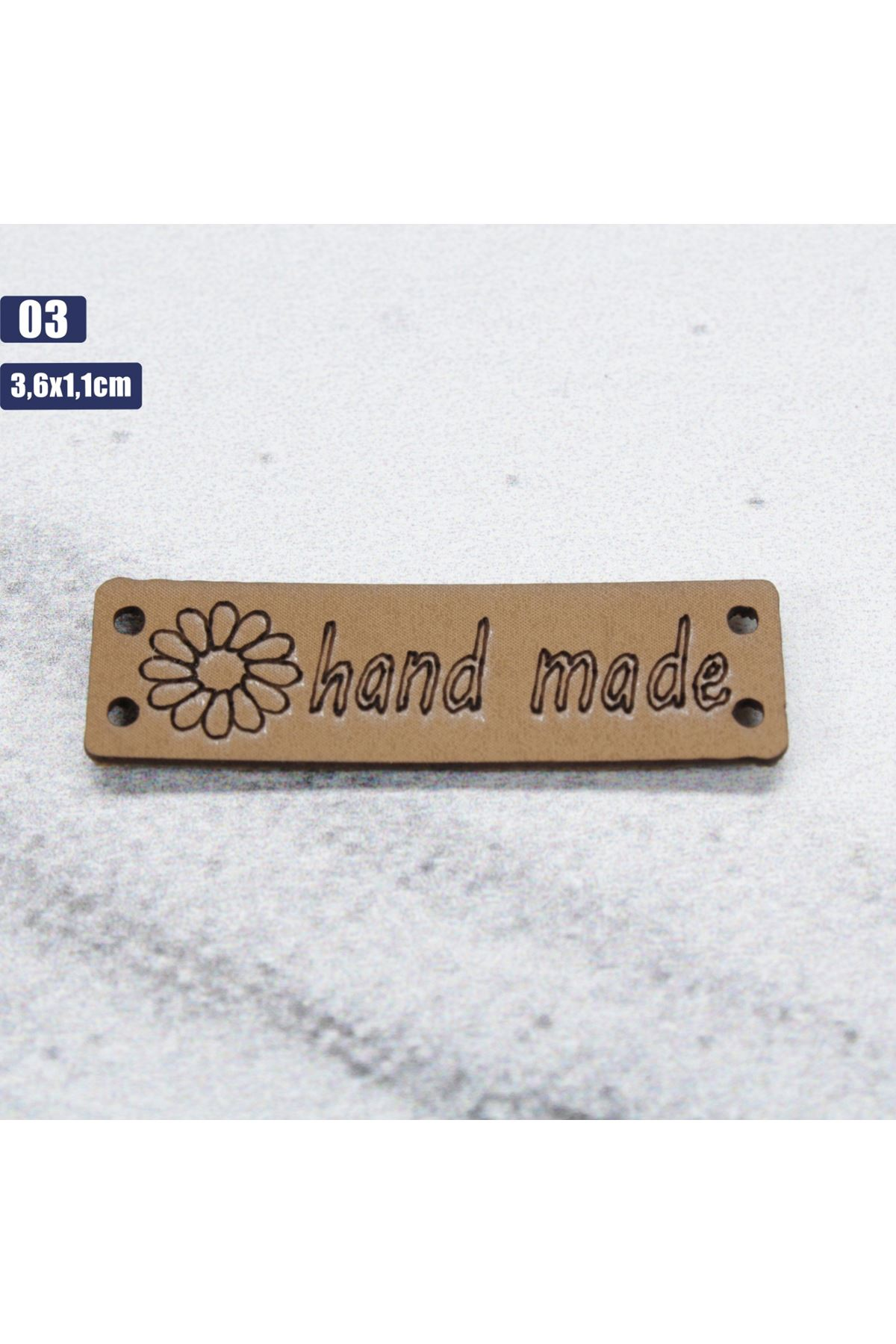 Deri Handmade Etiketi 03