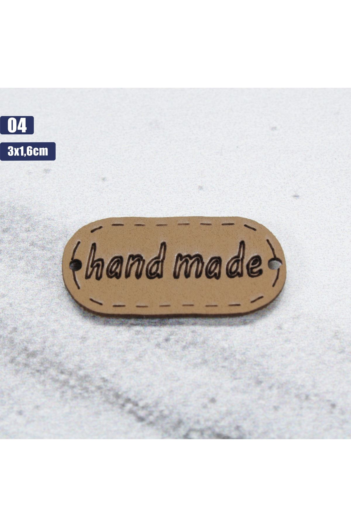 Deri Handmade Etiketi 04