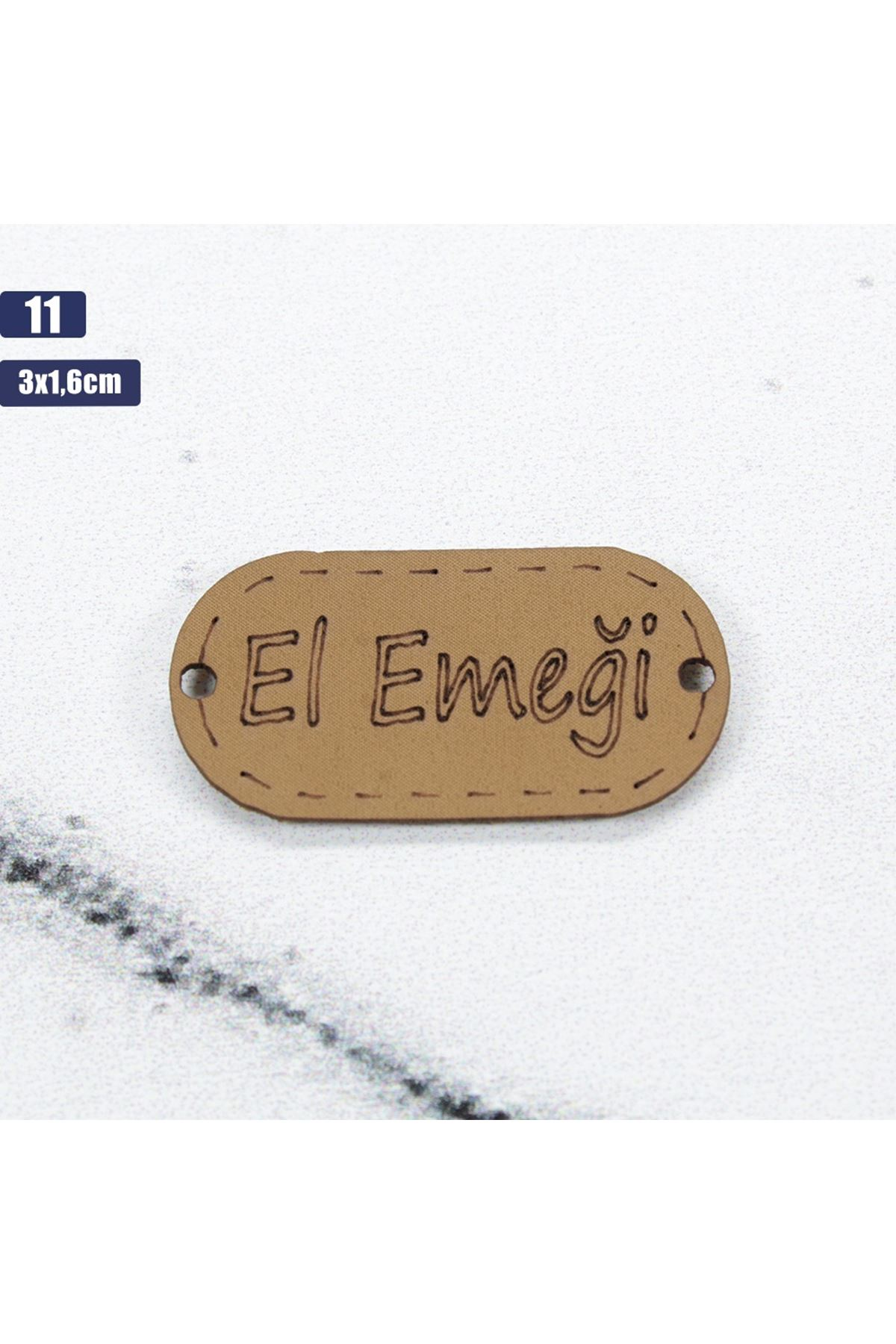 Deri Handmade Etiketi 11