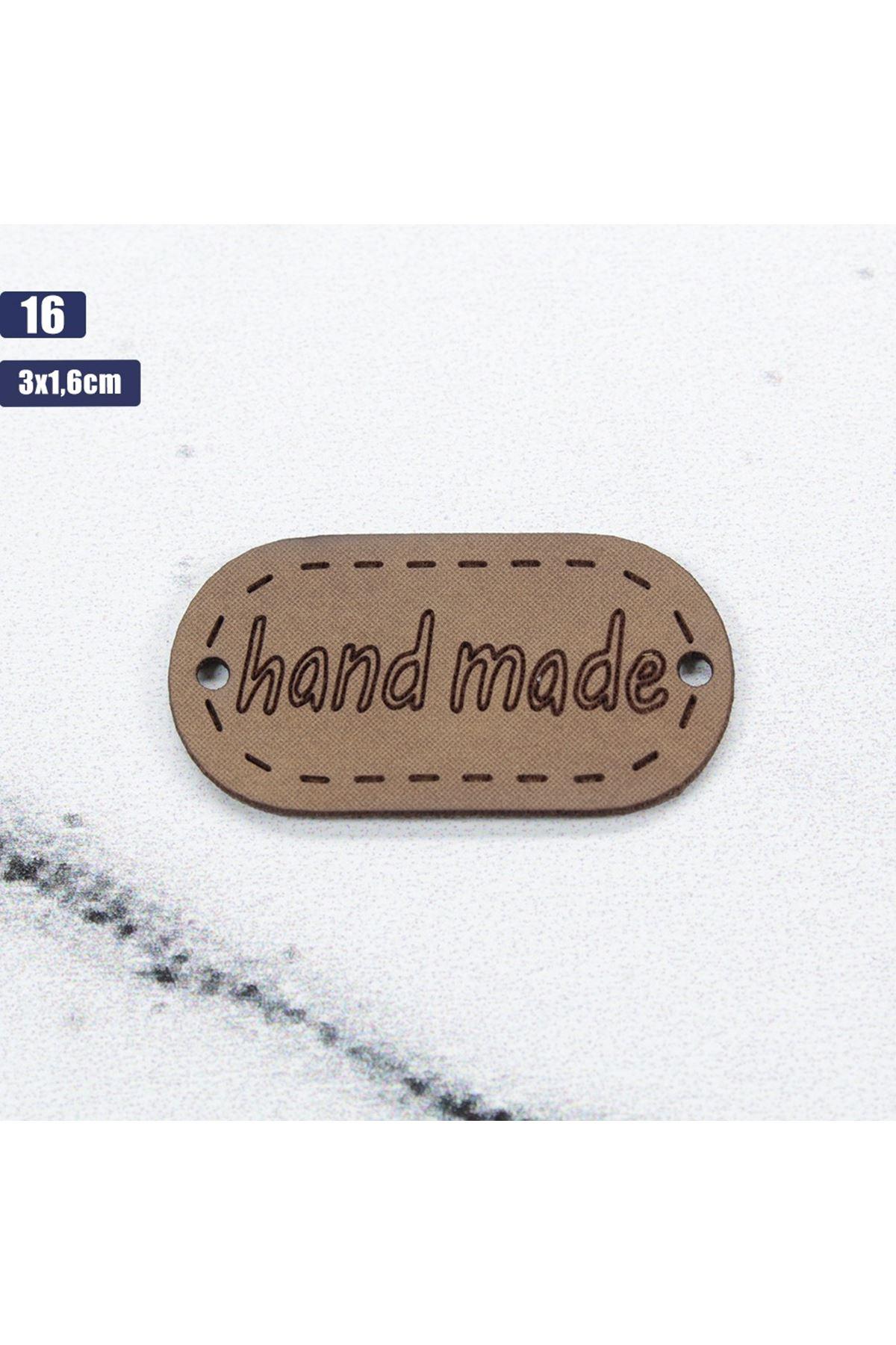 Deri Handmade Etiketi 16